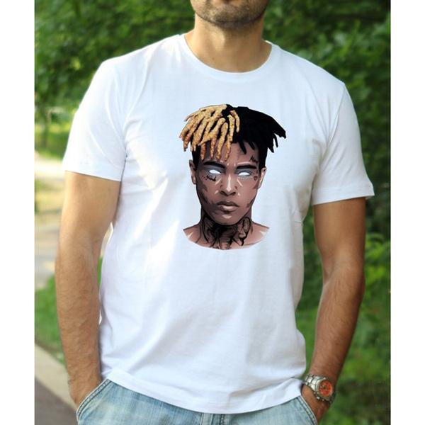2018 New XXXTentacion Shirt RIP XXXtentacion Shirt Mens Rap Shirt Hip Hop  Tee Rap Tshirt XXXtentacion T-shirt Memorial Shirt