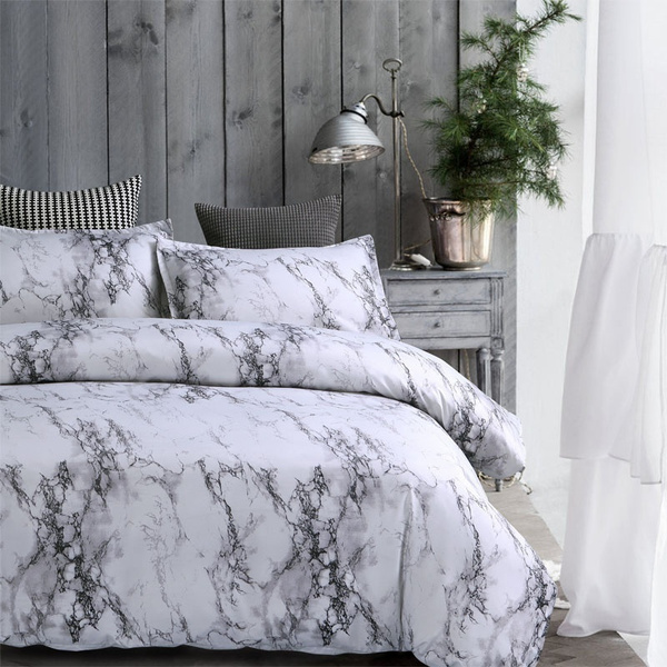 Brief Marble Lines Bedding Set Single Au Eu Double Full Queen King