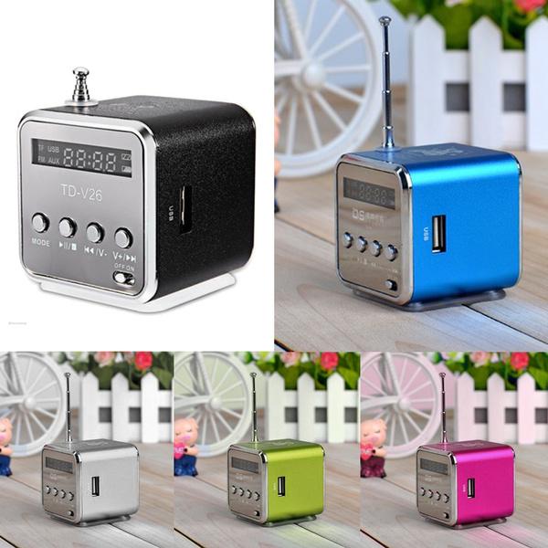 Portable Micro SD TF USB Mini Stereo Bass Speaker MP3 Music Player FM Radio PC