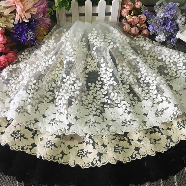 lace trim, Flowers, Lace, 1yardembroideredflowerlace