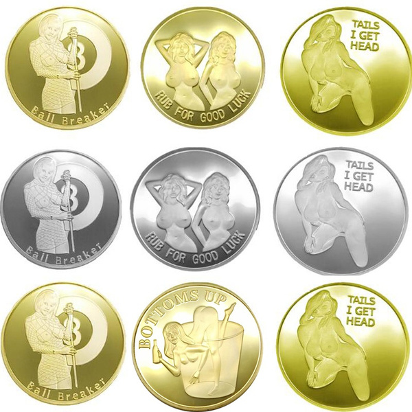 Heads I Get Tail, Tails I Get Head Adult Novelty Coin Sexy Woman Lucky  Challenge Coin Arts Gifts Coin Collection Alloy Souvenir