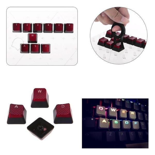 10Pcs/Pack Keycaps for Corsair K70 K65 K95 G710 RGB STRAFE Mechanical  Keyboard SCF
