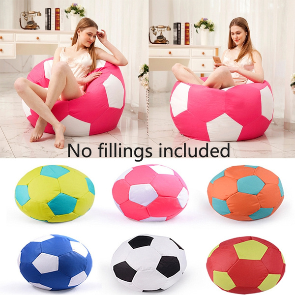 Fabulous Wonderful Turbo Soccer Ball Style Bean Bag Chair Sofa Couch Cover No Fillings Included Ocoug Best Dining Table And Chair Ideas Images Ocougorg