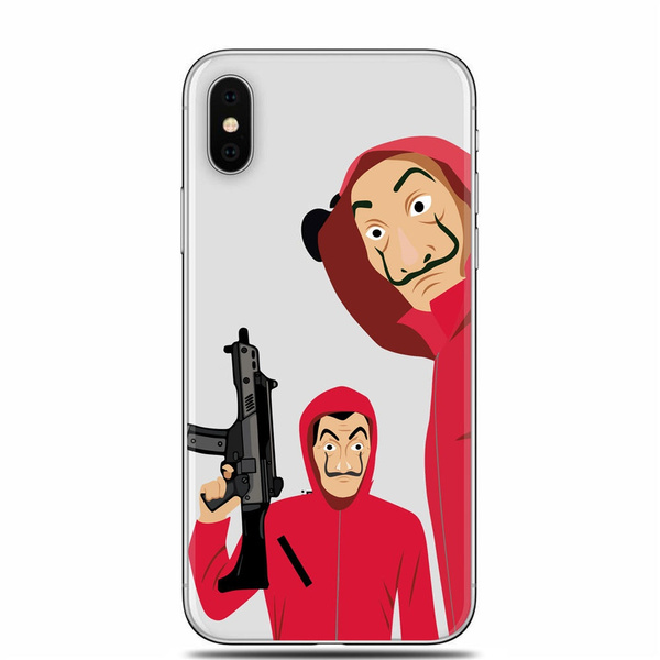 La Casa De Papel Mask Wallpaper Silicone Tpu Phone Cover For Apple Iphone 6s 6 Plus Iphone 7 7 Plus Iphone 8 8 Plus Iphone X Samsung Galaxy S7 S7