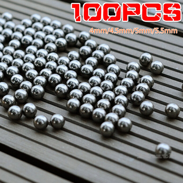 100pcs Bicycle Replacement Silver Tone Steel Bearing Ball  4//4.5//5//5.5MM Dia TO