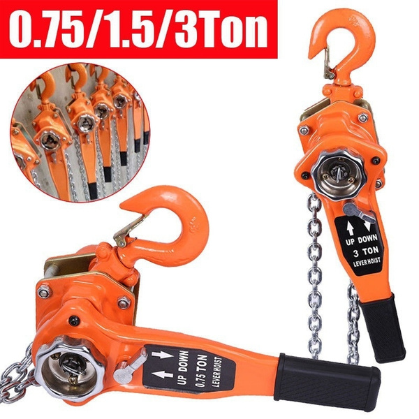 0 75/1 5/3 Ton Lever Block Chain Hoist Ratchet Type Comealong Puller Lifter