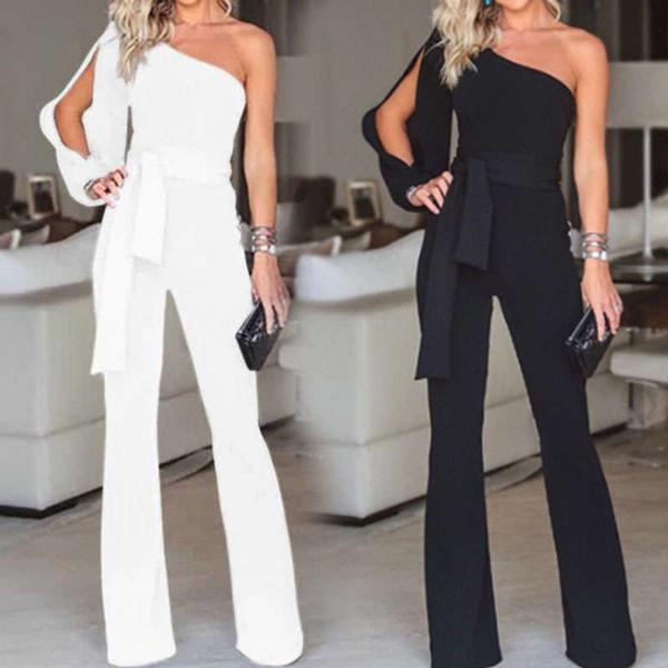 strapless, Fashion, one-shoulder, Pure Color