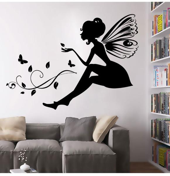 Erfly Flower Fairy Wall Stickers