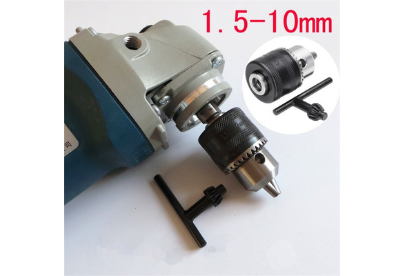 1.5-10mm Metal Stable Keyed Drill Adapter Drill Chuck for 100mm Angle Grinder
