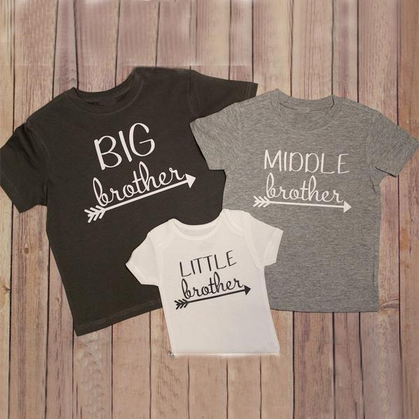 feb5b9677 Big brother shirt Middle Brother shirt Little brother shirt New Baby Shirt  big sister shirt little sister shirt big brother shirt | Wish