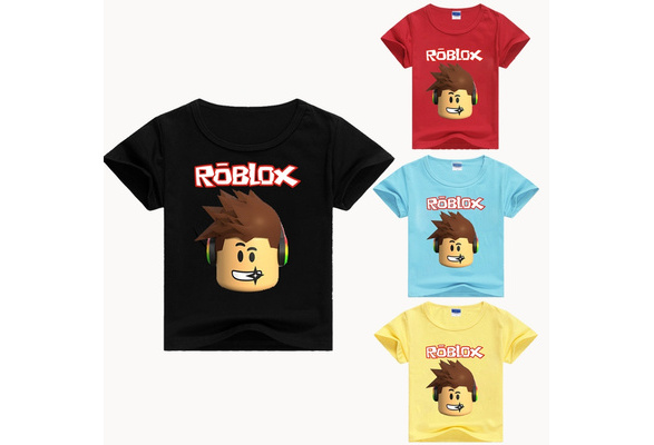 Roblox T Shirt Children Summer Boys Girls Kids Short Sleeve T