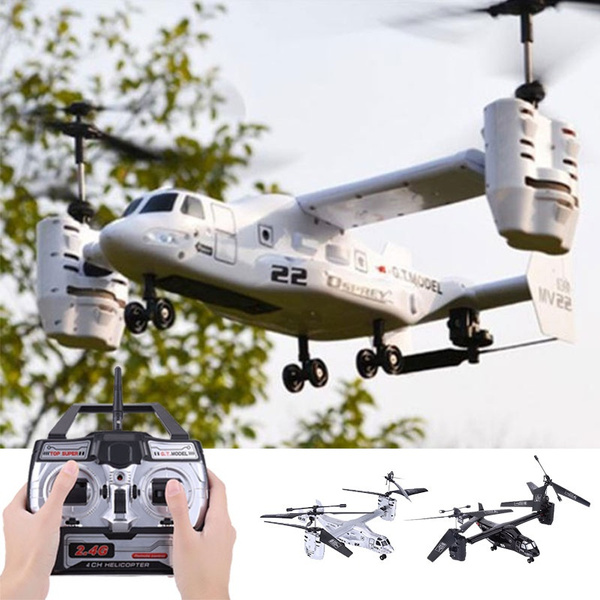 Fashion Osprey Transport Aircraft 4 5 CH 2 4G RC Helicopter Double Engine  Remote Control Military Professional Model