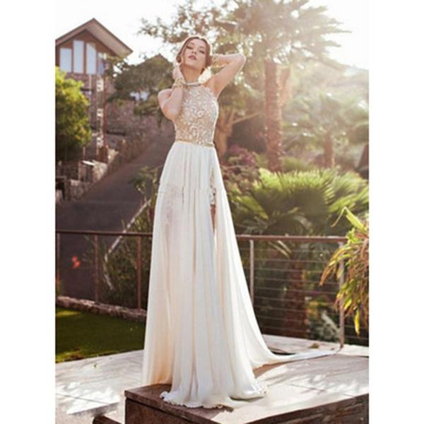 a4ee075266 Sexy Open Back Bohemian Lace Vintage Boho Beach Wedding Dress 2018 ...