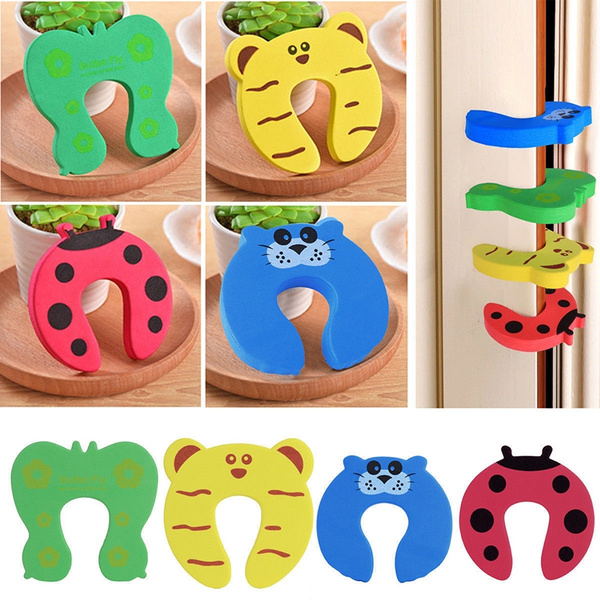 5pcs Pack Baby Safety Cartoon Door Security Stopper Cute Animal Child Safety Guard Door Corner Protector Gifts For Kids Wish