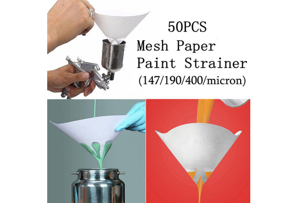 50x147//190//400 Micron Paper Paint Strainer Filter Purifying Straining Nylon Cup