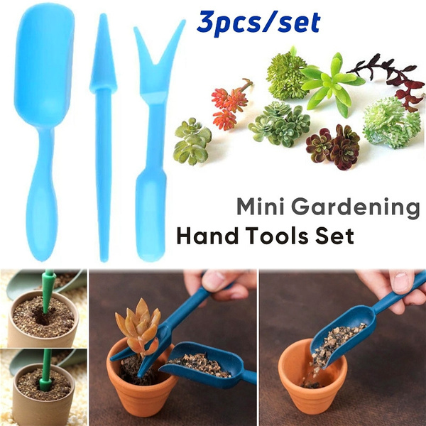 3pcs Set Mini Garden Tools Succulent Potting Kit Succulent Starter