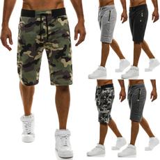 Pocket, Plus Size, beachpantsmen, Fitness
