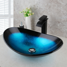 Baño, temperedglasssink, vesselsink, bathroom sink faucet