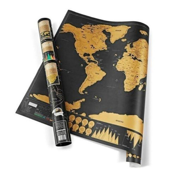 Wish scratch map of the world travel edition deluxe scratch off wish scratch map of the world travel edition deluxe scratch off map personalized world map poster black traveler journal log gift gumiabroncs Images