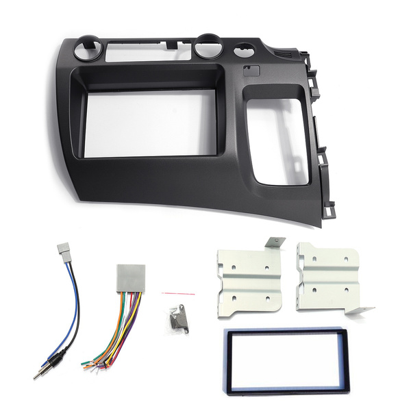 For Honda Civic 06-11 Taupe Radio Stereo Dash Kit w/ Wiring ... on double din bracket, double din cover, double din radio, double din trim ring, double din dash panel,