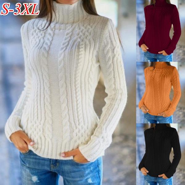 knitwear, Plus Size, Winter, Sleeve
