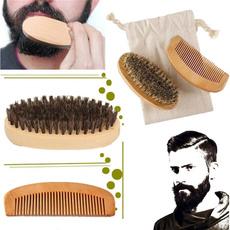 beardbrush, brushcombsset, Handmade, shavingbrushe