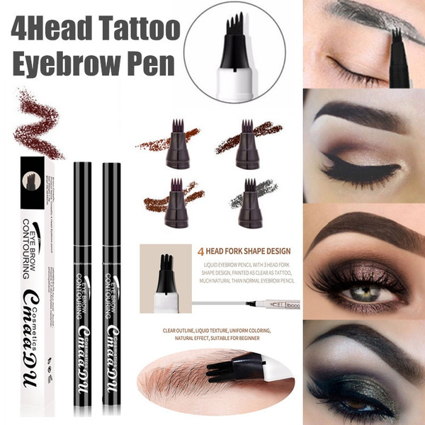 Eyebrow Tattoo Pen Waterproof Fork Tip Sketch Makeup Pen Microblading Ink  Sketch Stylo de tatouage de sourcil Imperméable à l'eau de pointe de
