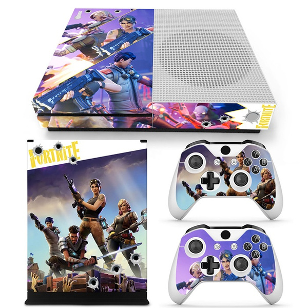 Cool Vinyl Decal Skin Sticker For Xbox One S Console 2 Pcs Controller Protective Cover Skins Fortnite