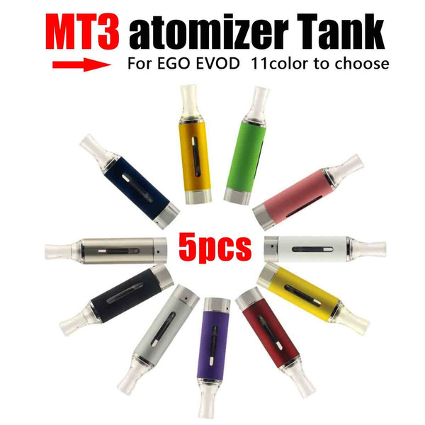 5PC MT3 Tank BCC 2 4ml bottom coil tank clearomizer fit 510 Thread atomizer  tank for EVOD EGO Vape-pen Electronic vape vapor