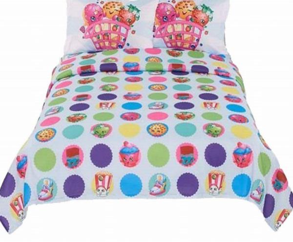 Wish | Shopkins Twin Sheet Set Soft Colorful Bed Sheets