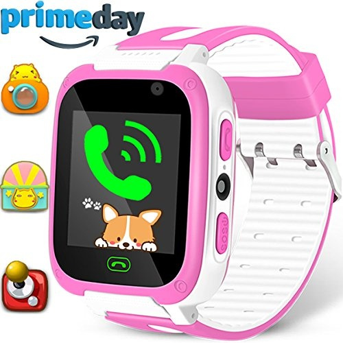 Kids Game Smart Watch Phone SOS Tracker Prime Deals Birthday Holiday Toy  Gifts Girls Boys Fitness Tracker Wrist Sport Watch with SIM Camera 1 54''