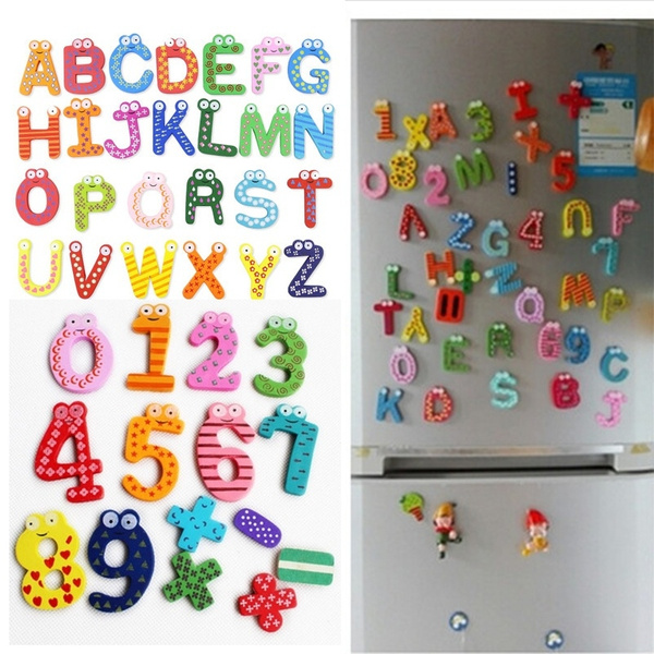 Magnet, Wooden, Stickers, Numbers