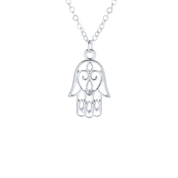Wish Hamsa Fatima Series Buddha Palm Pendant Short Necklace