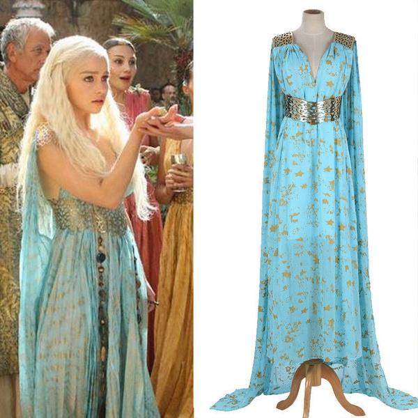 Cosplay Game Of Thrones 5 Halloween Daenerys Targaryen Dress Qarth Costume