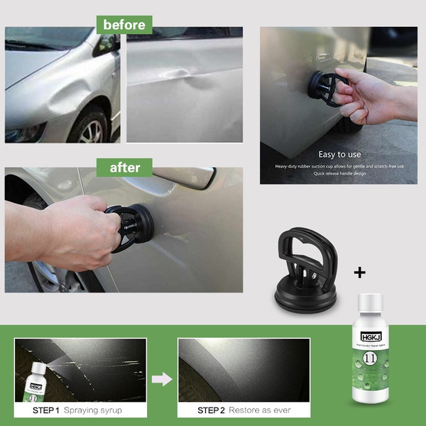 Car Paint Surface Depression And Scratch Repair Kit Dent Repair Puller Suction Cup Bodywork Panel Sucker Remover Tool Clear Coat Care Car Scratch