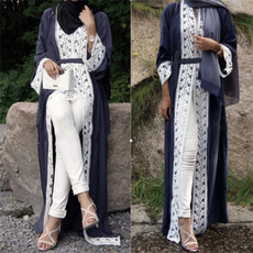 jilbaabmuslim, Lace, Sleeve, long dress