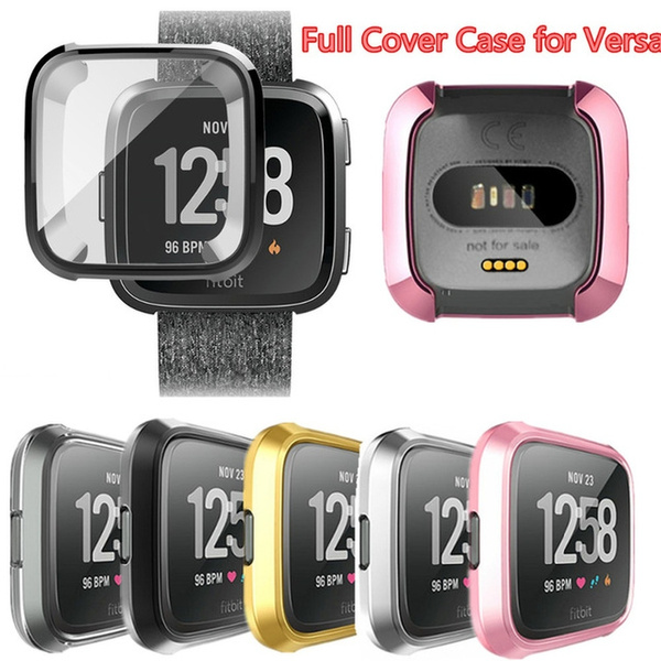 Silicone Protective Shell Case Screen Protector Frame Cover For Fitbit Versa New