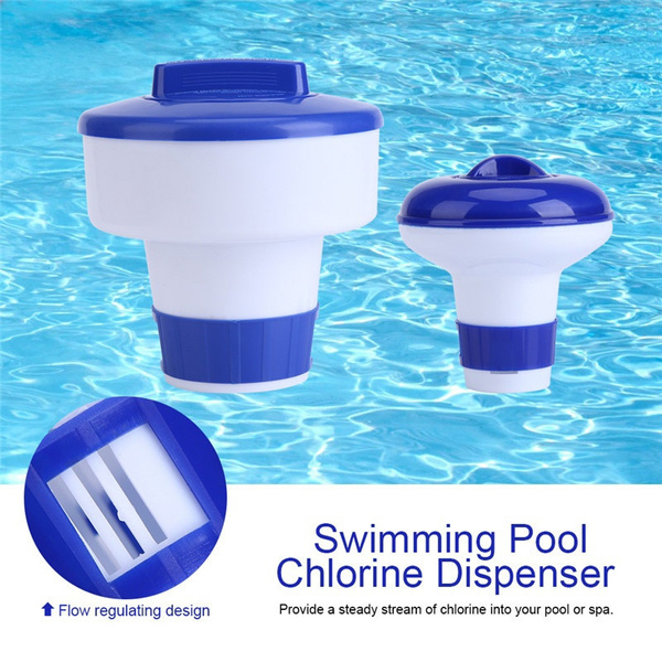Fashion Gifts 5.1 inch Deluxe Large Blue and White Floating Swimming Pool  Chlorine Dispenser