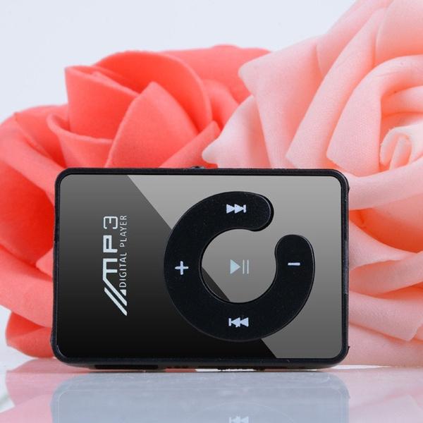 Fashion Clip Mini USB MP3 Music Media Player Support Micro SD TF Card Up to  16GB Black