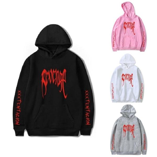 XXXTentacion Bad Vibes Forever MENS Black Red Print REVENGE /'KILL/' HOODIE