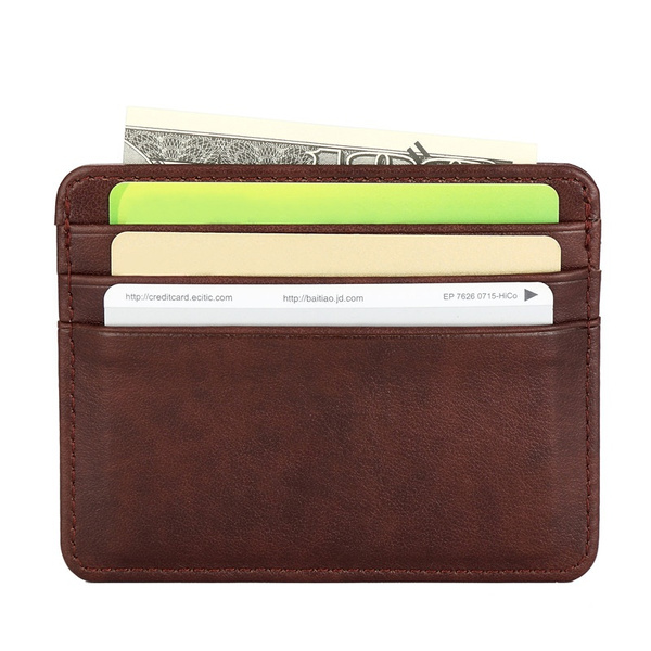 Wish Mens Fashion Business Card Wallet Pu Leather Card Holder