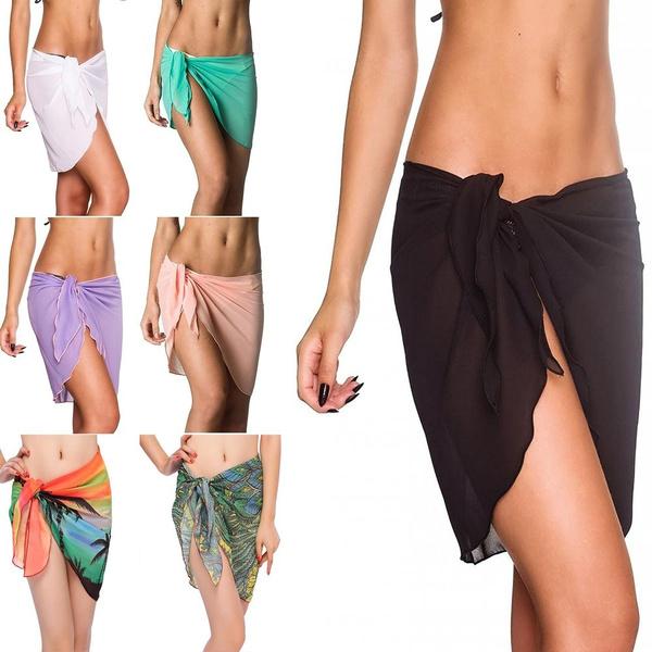 fec9750cbd907 Sexy Cover Ups Shawl Scarf Sundress Bikini Mini Wrap Skirt Swimwear ...