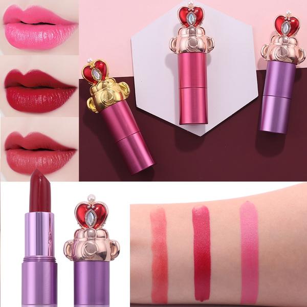 Sakura Lipstick Makeup Lips Sailor Moon Crystal Cosmetic Beauty Makeup Lip Stick Long Lasting Moisturizing Lipstick Huancheng by Wish