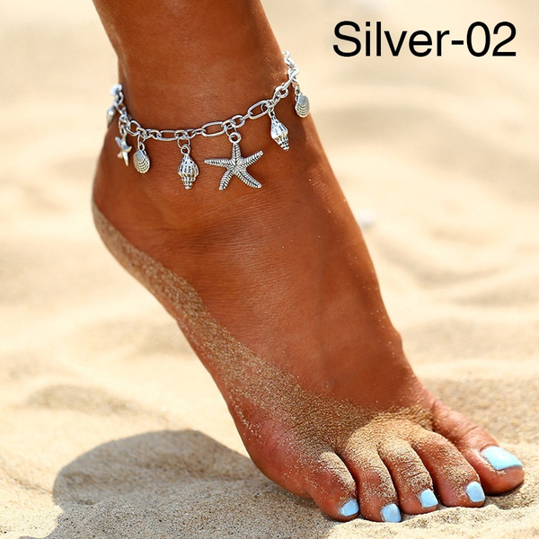Wish Boho Wave Turtle Pendant Anklets For Women Fashion Shell