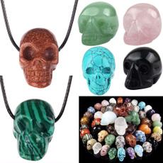 Jewelry, skull, skullstone, handcarved