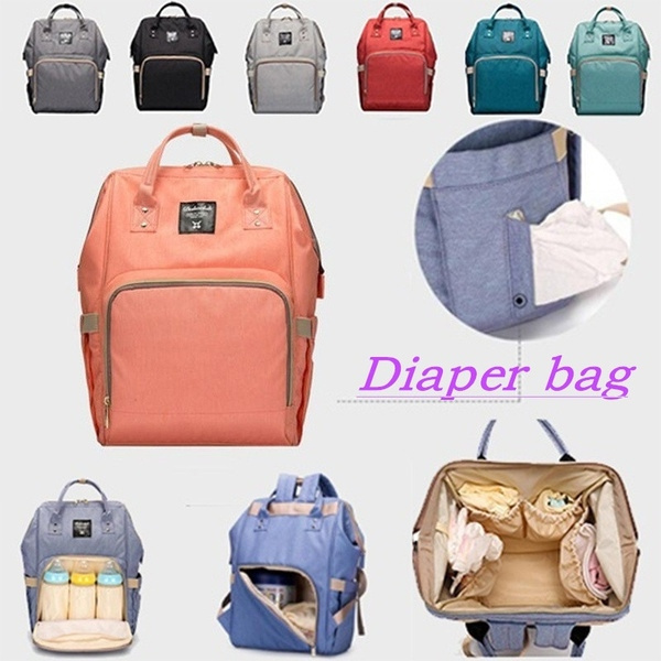 Women Diaper Bag Backpack for Baby Care, Multi-Functional Baby Nappy  Changing Bag with Insulated Pockets, Waterproof Fabric, Large Capacity