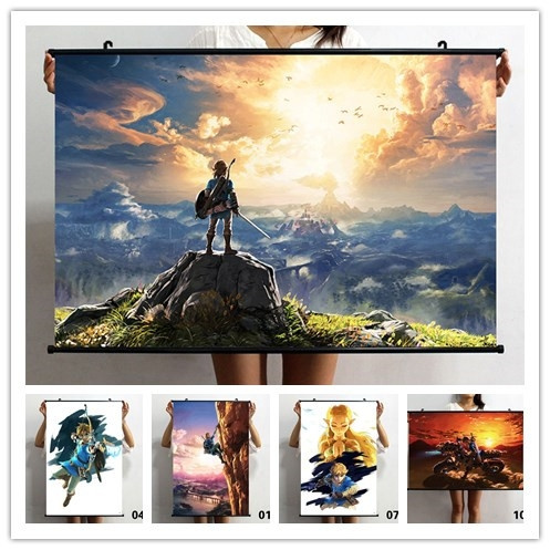 Legend Of Zelda Wall Art.Unframed Printed Poster The Legend Of Zelda Breath Of The Wild Game Posters High Definition Action Game Canvas Paintings Decoration Painting For Home