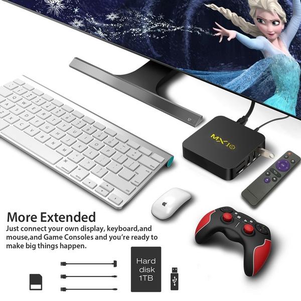 Wish | MX10 Smart Android 8 1 TV Box RK3328 4K USB3 0 4GB