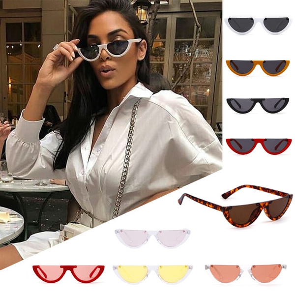 d3033dea14be Sexy Women Round Style Glasses Semicircle Cool Small Cat Eye ...