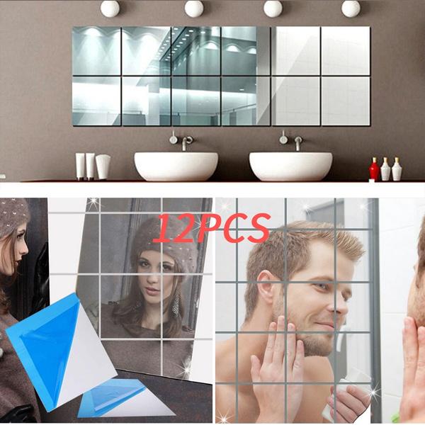 PVC wall stickers, bathroommirror, tilesticker, Mirrors